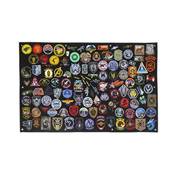 """Aoutacc Airsoft Morale Patch 2 27.5"""" x 42.5"""" Tactical Military Patch Holder Board Hook & Loop Morale Patch Panel Wall(108x70cm)"""