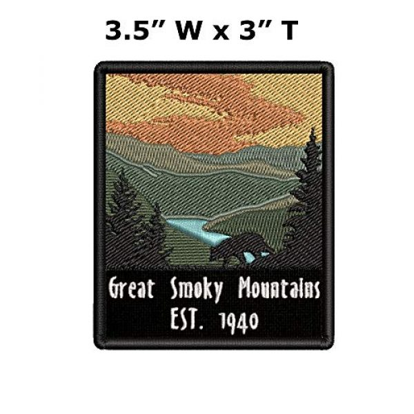 Appalachian Spirit Airsoft Morale Patch 2 Great Smoky Mountains Est. 1940 Black Bear Sunrise Scene Embroidered Premium Patch DIY Iron-on or Sew-on Decorative Badge Emblem Vacation Souvenir Travel Gear Clothes Appliques