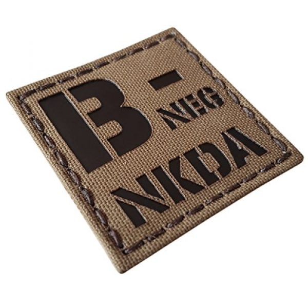 Tactical Freaky Airsoft Morale Patch 5 Coyote Brown Tan Infrared IR BNEG NKDA B- Blood Type 2x2 Tactical Morale Touch Fastener Patch