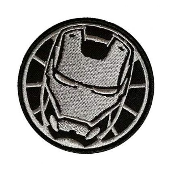 Embroidery Patch Airsoft Morale Patch 3 Marvel Avengers Iron Man Military Hook Loop Tactics Morale Embroidered Patch (color2)
