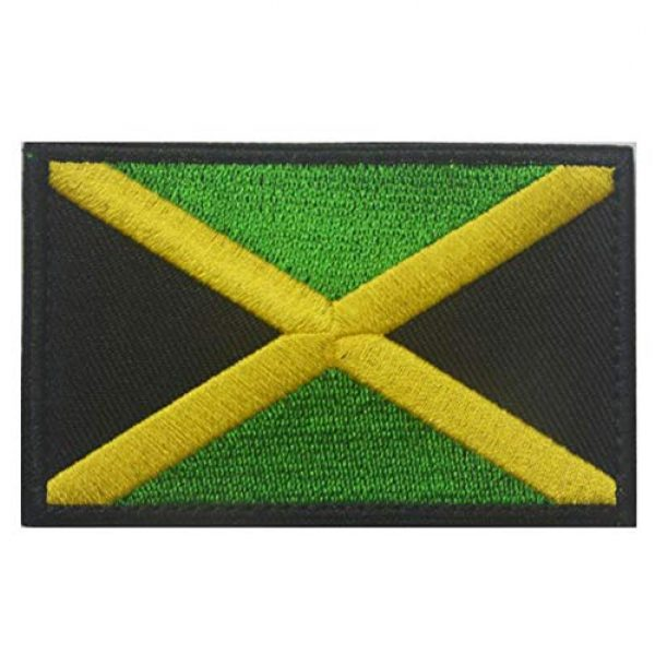 June Sports Airsoft Morale Patch 2 World National Flag Embroidery Velcro Patches Tactical Morale Patch ABG6