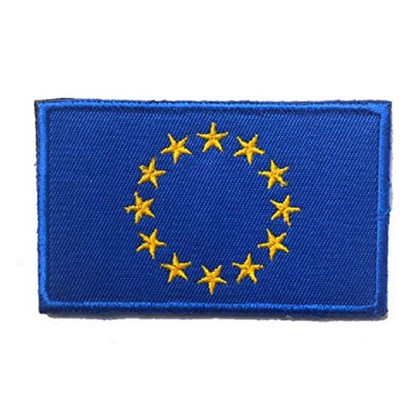 Tactical Embroidery Patch Airsoft Morale Patch 1 European Union Flag Embroidery Patch Military Tactical Morale Patch Badges Emblem Applique Hook Patches for Clothes Backpack Accessories