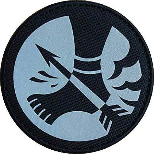 """Embroidery Patch Airsoft Morale Patch 1 SCP Foundation Special Containment Procedures Foundation SCP Mobile Task Forces Omega-12 Achilles' Heels"""" Military Hook Loop Tactics Morale Reflective Patch"""