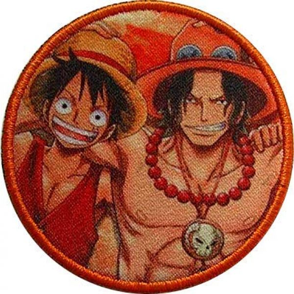 Fine Print Patch Airsoft Morale Patch 1 One Piece Luffy Hook Loop Tactics Morale Printed Patch