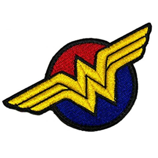 Embroidery Patch Airsoft Morale Patch 2 Wonder Woman Super Hero Tactical Military Embroidery Patch