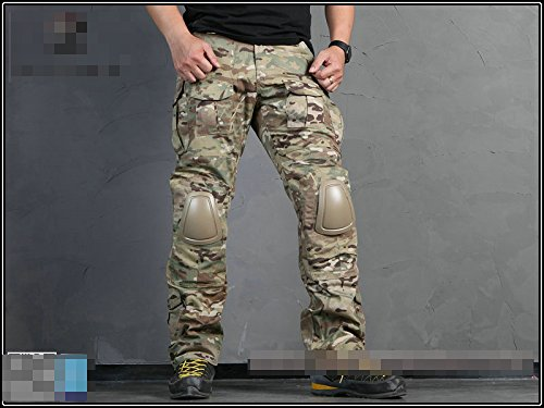 ATAIRSOFT Tactical Pant 3 ATAIRSOFT Tactical Military Emerson BDU Hunting Gen2 G2 Men Combat Pants with Knee Pads Multicam(S-30W)