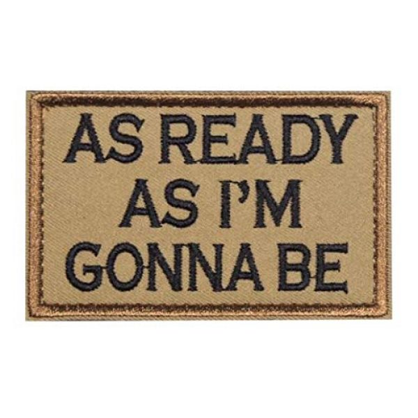 Vortex Blade Shop Airsoft Morale Patch 1 Military Style Fun Phrase Embroidered Morale Patch Tactical Badge Hook and Loop Patches (As Ready As I'm Gonna Be)