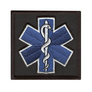 LEGEEON Airsoft Morale Patch 1 LEGEEON EMS EMT Star of Life Paramedic Medical Morale Tactical Army Gear Hook&Loop Patch