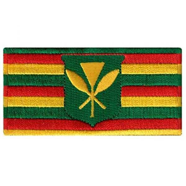 Cypress Collectibles Embroidered Patches Airsoft Morale Patch 1 Hawaii Kanaka Maoli State Flag Embroidered Patch Iron-On Kamehameha Hawaiian