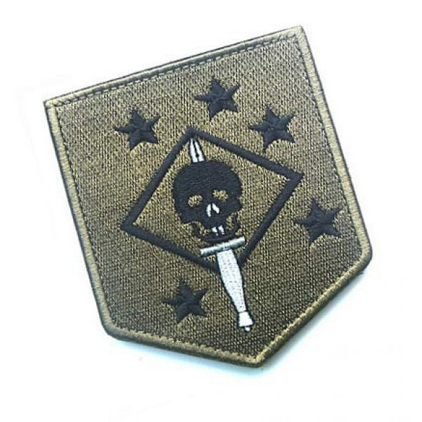 Embroidery Patch Airsoft Morale Patch 2 USMC Ghost Force Recon SP OPS Military Hook Loop Tactics Morale Embroidered Patch Marsoc Raiders Skull Patch (color2)