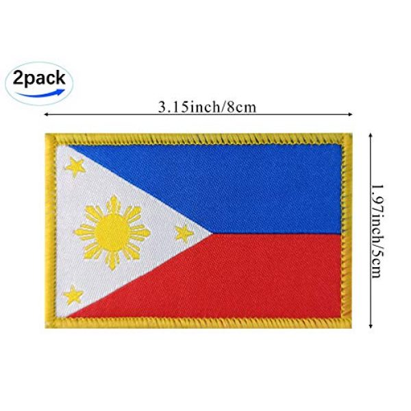 JBCD Airsoft Morale Patch 3 JBCD 2 Pack Philippines Flag Patch Philippine Flags Tactical Patch Pride Flag Patch for Clothes Hat Patch Team Military Patch