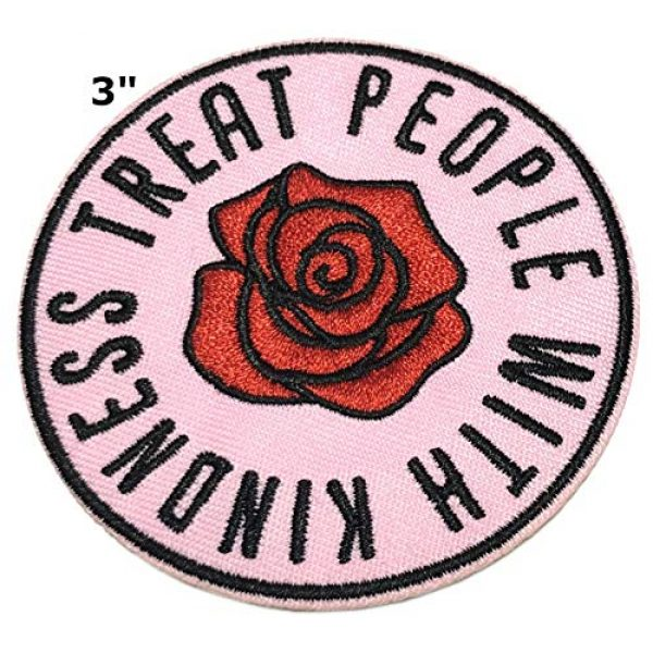 """Appalachian Spirit Airsoft Morale Patch 2 Treat People with Kindness 3"""" Embroidered Patch DIY Iron-on/Sew-on Decorative Vacation Souvenir Travel Appliques Retro Vintage 1970's Peace Van Weed Love Heart Dove Music Festival Karma Hippie"""