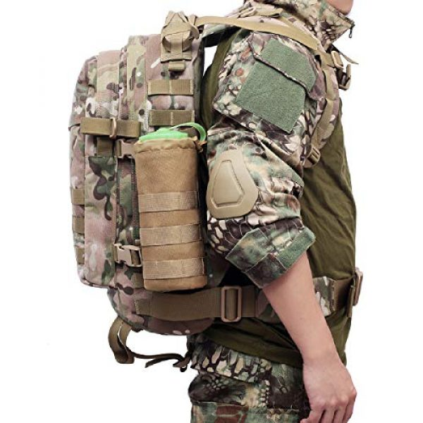Azarxis Tactical Pouch 7 Azarxis Water Bottles Pouch Bag Tactical Molle Military Drawstring Water Bottle Holder Mesh Hydration Carrier Attachment Travel Outdoor Sports Gear