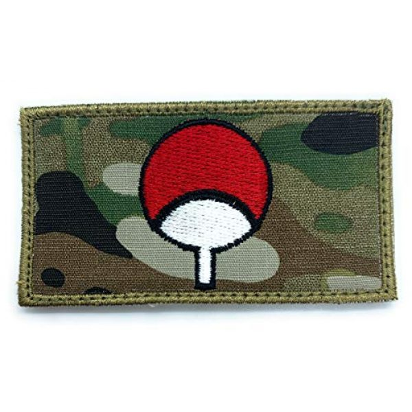 Almost SGT Airsoft Morale Patch 1 Naruto Uchiha Emblem Logo - Funny Tactical Military Morale Embroidered Patch Hook Backing(Camouflage)
