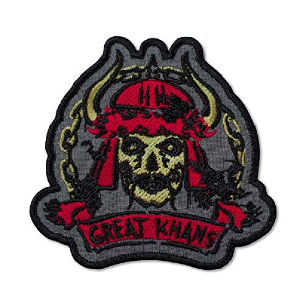"""Embrosoft Airsoft Morale Patch 1 Fallout New Vegas Great Khans Gang Emblem Embroidered Patch Iron On (3.5"""" x 3.3"""")"""