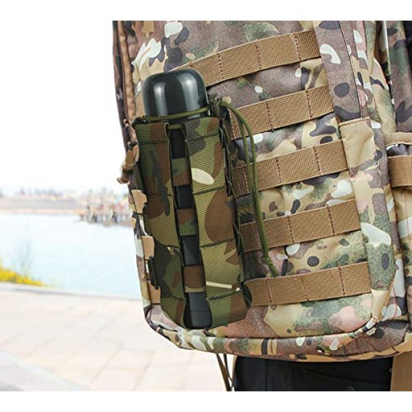 Aoutacc Tactical Pouch 6 2 Pack Molle Tactical Water Bottle Pouch Adjustable Straps Outdoor Sports Kettle Carrier Holder for Molle Systems
