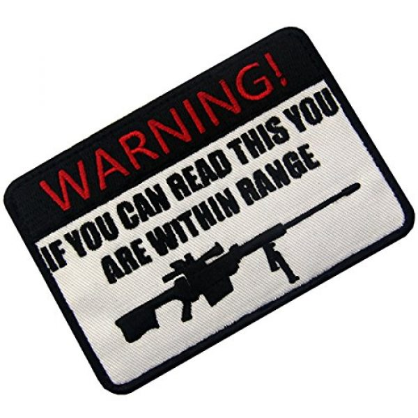 EmbTao Airsoft Morale Patch 3 If You Can Read This You are Within Range Tactical Military Morale Applique Fastener Hook & Loop Patch