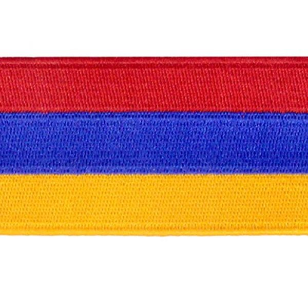 EmbTao Airsoft Morale Patch 2 Armenia Flag Embroidered Patch Armenian Iron On Sew On National Emblem