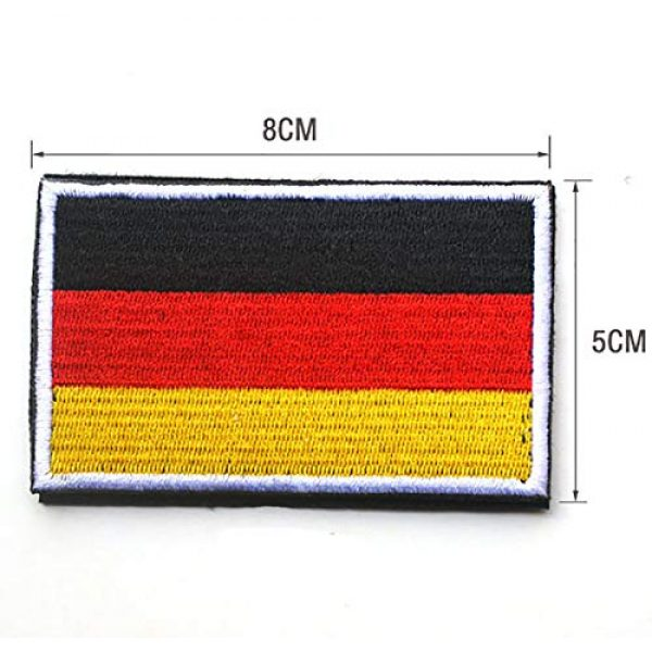 June Sports Airsoft Morale Patch 3 World National Flag Embroidery Velcro Patches Tactical Morale Patch ABG6
