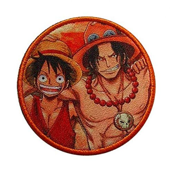 Fine Print Patch Airsoft Morale Patch 2 One Piece Luffy Hook Loop Tactics Morale Printed Patch