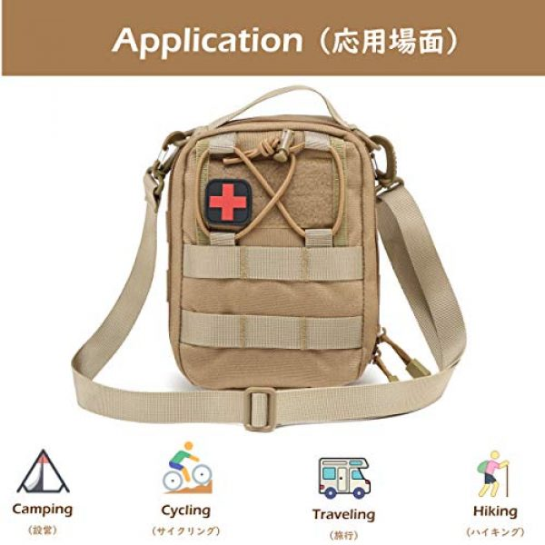 Azarxis Tactical Pouch 7 Azarxis First Aid Pouch, Tactical MOLLE Rip-Away EMT 1000D Nylon Medical IFAK Utility Bag Emergency Survival Gear for Hiking Camping Trekking Hunting Outdoor Activities
