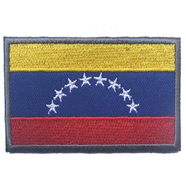 Tactical Embroidery Patch Airsoft Morale Patch 1 Venezuela Flag Embroidery Patch Military Tactical Morale Patch Badges Emblem Applique Hook Patches for Clothes Backpack Accessories