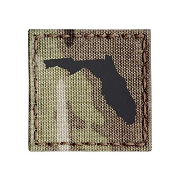 Tactical Freaky Airsoft Morale Patch 1 IR Multicam Florida State 2x2 Cutout Shape Infrared Tactical Morale Fastener Patch