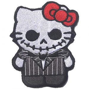 Kseen Airsoft Morale Patch 1 Hello Kitty Embroidered Patches As Jack Nightmare Before Christmas Armband Badge Morale Emblem Military Applique Fastener Decorative Patch