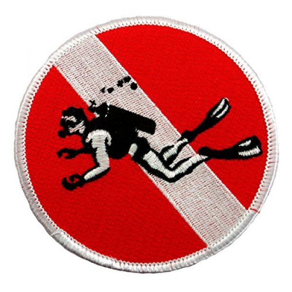 Cypress Collectibles Embroidered Patches Airsoft Morale Patch 1 Skin Diver Patch Embroidered Iron On Scuba Diving Flag Emblem Souvenir