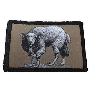 """RedheadedTshirts Airsoft Morale Patch 1 Wolf in Sheep's Clothing Morale Patch 2x3"""" Tactical Morale Patch. Made in The USA by Redheadedtshirts."""
