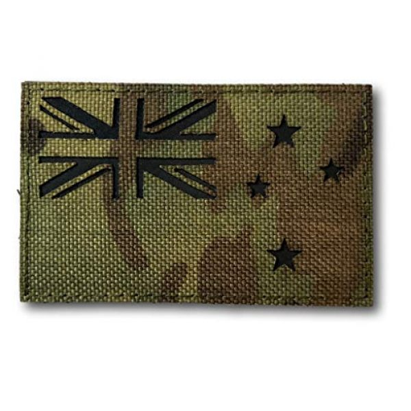 """Backwoods Barnaby Airsoft Morale Patch 1 New Zealand Infrared IFF IR Tactical Morale Patch with Hook & Loop (NZ Multicam, 2"""" x 3.25"""")"""