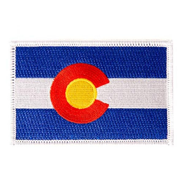 Desert Cactus Airsoft Morale Patch 1 Colorado Flag Patch 3.5 inch x 2.25 inch Iron On Sew Embroidered Tactical Backpack Hat Bags (Single Patch)