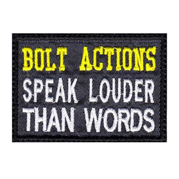 Tactical Patch Works Airsoft Morale Patch 1 Bolt Actions Speak Louder Than Words Patch