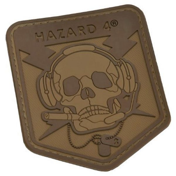 HAZARD 4 Airsoft Morale Patch 1 Hazard 4 3D Operator Skull Morale Patch Coyote
