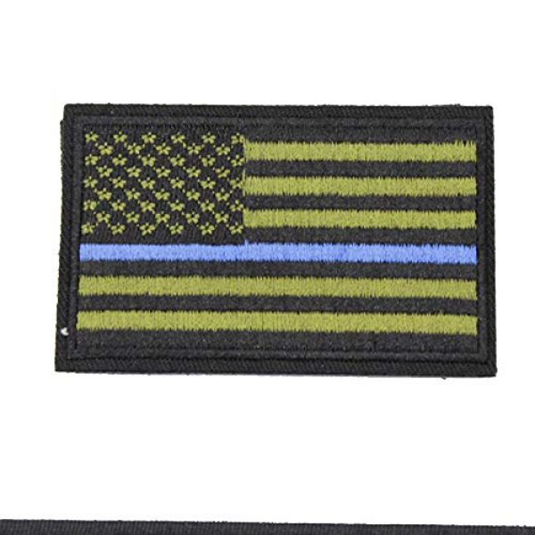 ZHDTW Airsoft Morale Patch 3 ZHDTW Tactical Morale US Flag Embroidered Patches with Hook and Loop (DT-032)