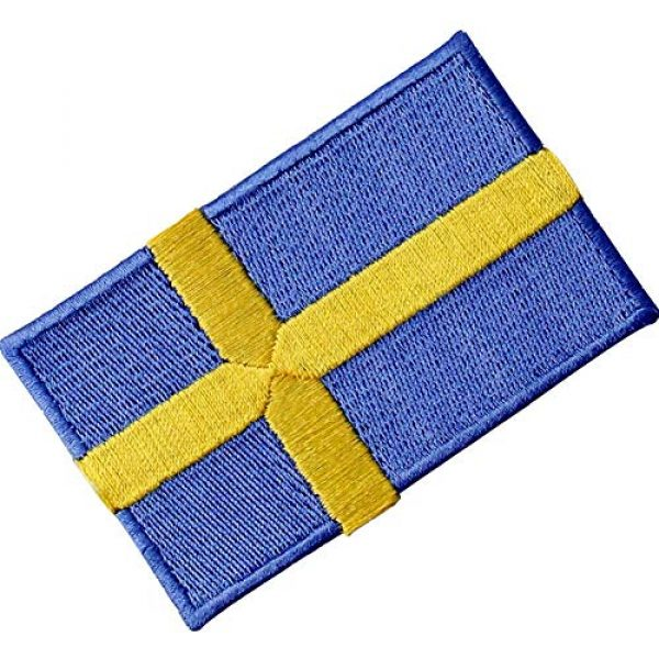EmbTao Airsoft Morale Patch 4 Sweden Flag Patch Embroidered Swedish Applique Iron On Sew On National Emblem
