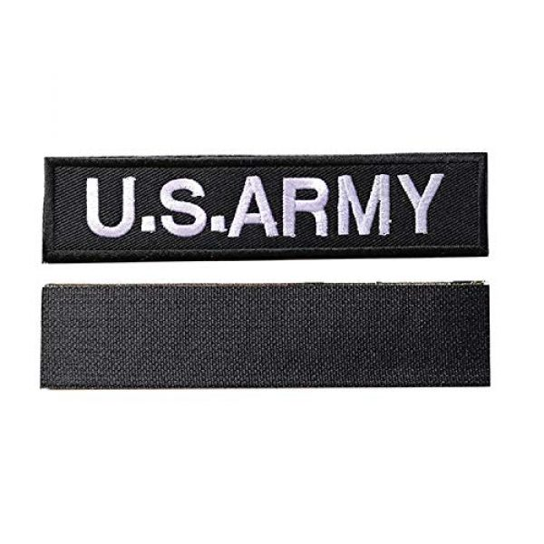 """Acbell Airsoft Morale Patch 5 2 Piece Military Tactical Morale Patch U.S.Army DIY Cloth Patches 5.31"""" x 1.18"""" Hook & Loop Embroidered Badges"""