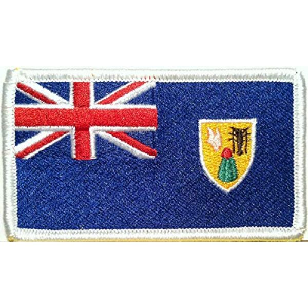 Victoriou Airsoft Morale Patch 1 Victoriou Turk and Caicos Islands Flag Iron-On Patch Tactical Morale Emblem White Border
