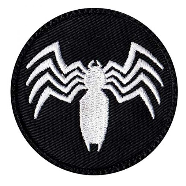 Tactical Patch Works Airsoft Morale Patch 1 Venom Spider Shape Logo Patch