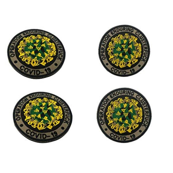 Werich Airsoft Morale Patch 5 Operation Enduring Cluster Fuck Outbreak Team Response PatchEmbroidery Patch Military Hook and Loop Badge Embroidery Patches Embroidered Funny Patch