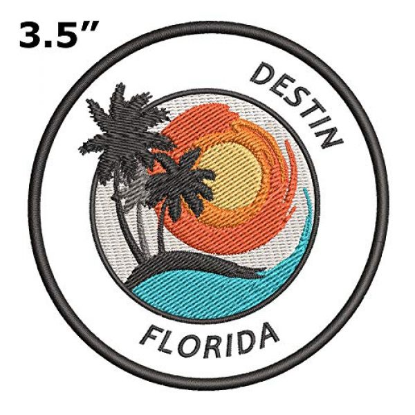 Appalachian Spirit Airsoft Morale Patch 2 Destin, Florida Sunset Scene Embroidered Premium Patch DIY Iron-on or Sew-on Decorative Badge Emblem Vacation Souvenir Travel Gear Clothes Appliques
