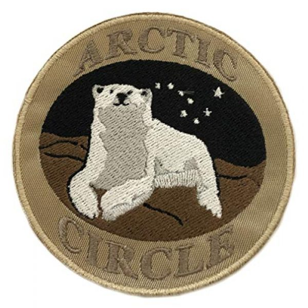 """Appalachian Spirit Airsoft Morale Patch 1 Arctic Circle Polar Bear 3.5"""" Embroidered Patch DIY Iron-on or Sew-on Decorative Vacation Travel Souvenir Applique Explore Wander Nature Wildlife Series Wolves Wildlife Hike Trek Camping National Park"""