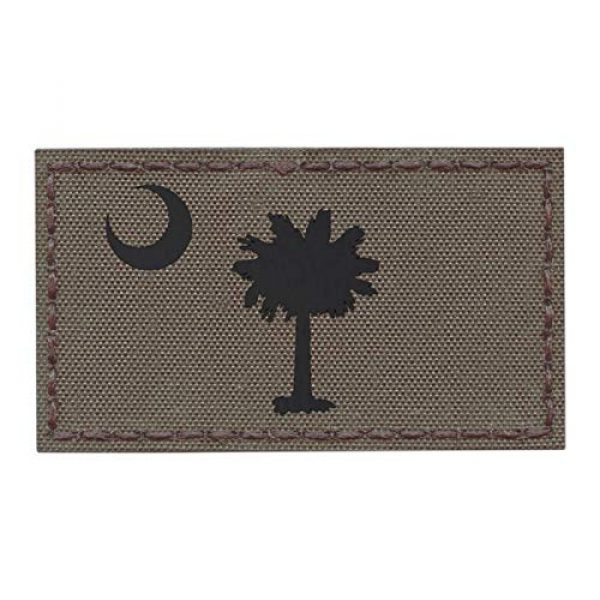 Tactical Freaky Airsoft Morale Patch 1 IR Ranger Green South Carolina State Flag 2x3.5 Infrared IFF Tactical Morale Hook&Loop Patch