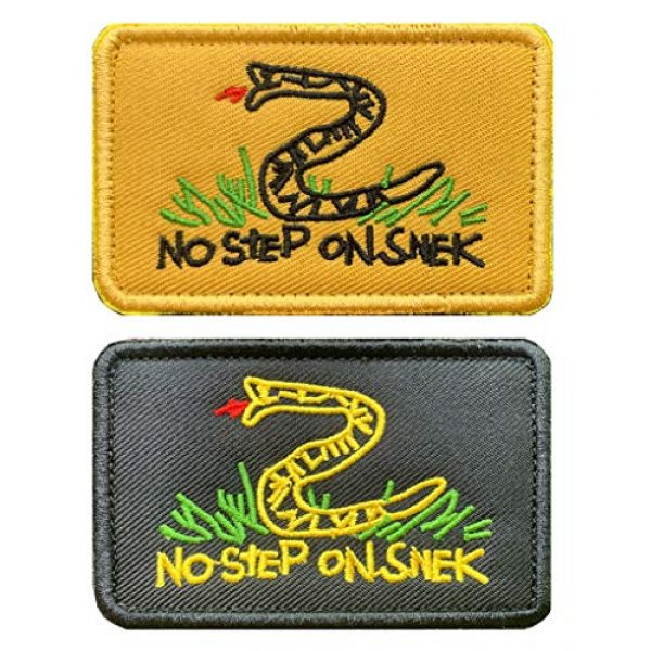Antrix Airsoft Morale Patch 1 Antrix 2 Pcs Tactical No Step On Snek Emblem Military Badge Emblem Patch Hook & Loop Patches for Backpacks Caps Hats Bags Military Uniform