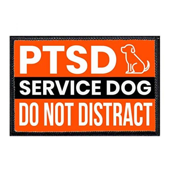 P PULLPATCH Airsoft Morale Patch 1 PTSD Service Dog Morale Patch   Hook and Loop Attach for Hats, Jeans, Vest, Coat   2x3 in   by Pull Patch
