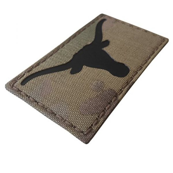 Tactical Freaky Airsoft Morale Patch 6 Texas Longhorn Multicam Infrared IR 3.5x2 IFF Tactical Morale Fastener Patch