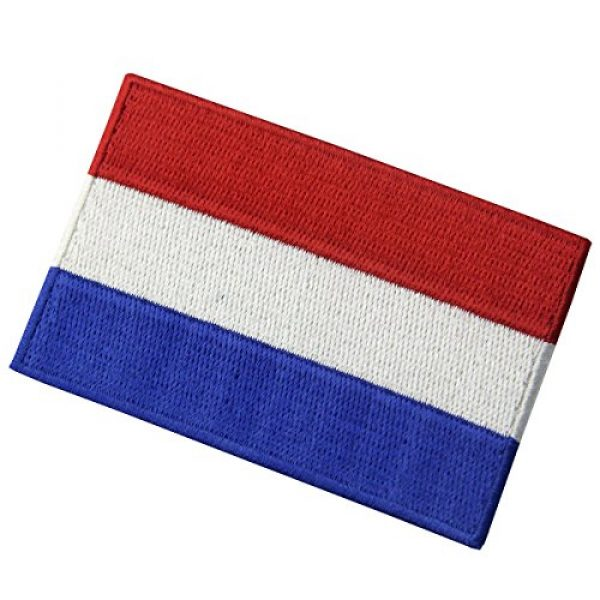 EmbTao Airsoft Morale Patch 3 The Netherlands Flag Embroidered Holland National Emblem Dutch Iron On Sew On Patch