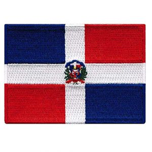 Cypress Collectibles Embroidered Patches Airsoft Morale Patch 1 Dominican Republic Flag Embroidered Patch Caribbean Iron-On National Emblem