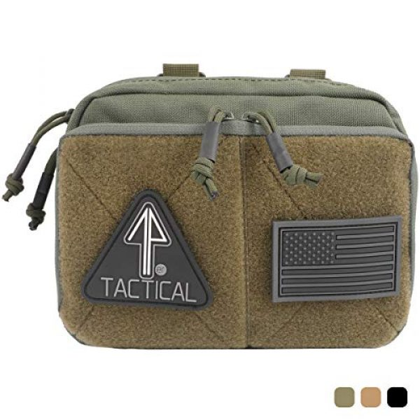 14er Tactical Tactical Pouch 1 14er Tactical MOLLE Admin Pouch | 1000D Material & YKK Self-Healing Zippers | Flag Patch Panel & MOLLE Compatible PALS | CAT TQ Straps, EDC, Utility, Hiking, IFAK, Tool Pack