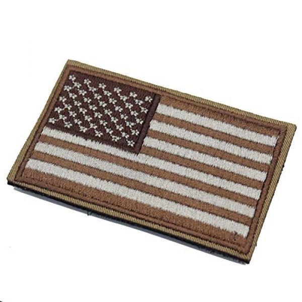 DATOUWEN ACCESSARY Airsoft Morale Patch 4 ZHDTW Tactical Morale US Flag Embroidered Patches with Hook and Loop (DT-029)